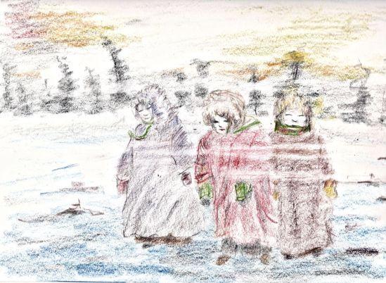 "Tri-Tone & Watercolor  Pencils, 9""x612"", Heavy Drawing Paper"