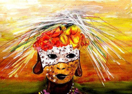 "Watercolor, Gouache and Watercolor Pencils, 9"" x 12"", Kilimanjaro Paper"